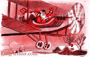 Santa Fly-by